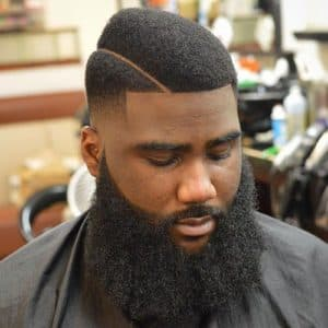 black man beard shape up 1