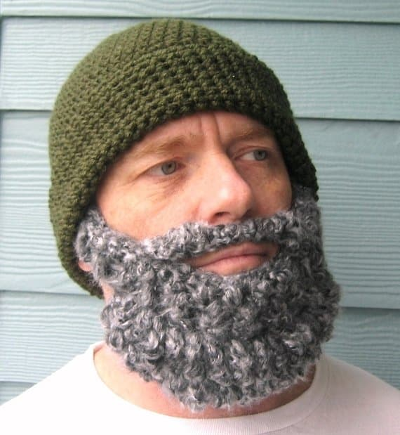 crochet beard hat pattern 1