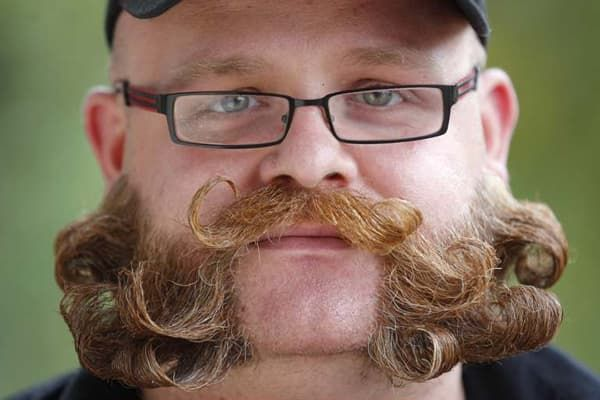 curled mustache with beard 1