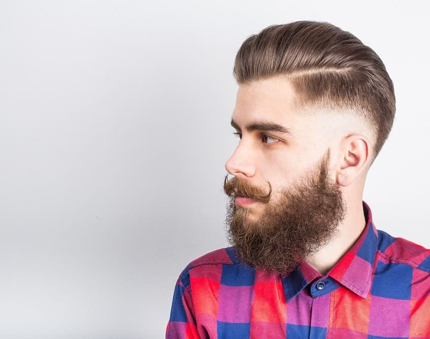 how to straighten curly beard 1