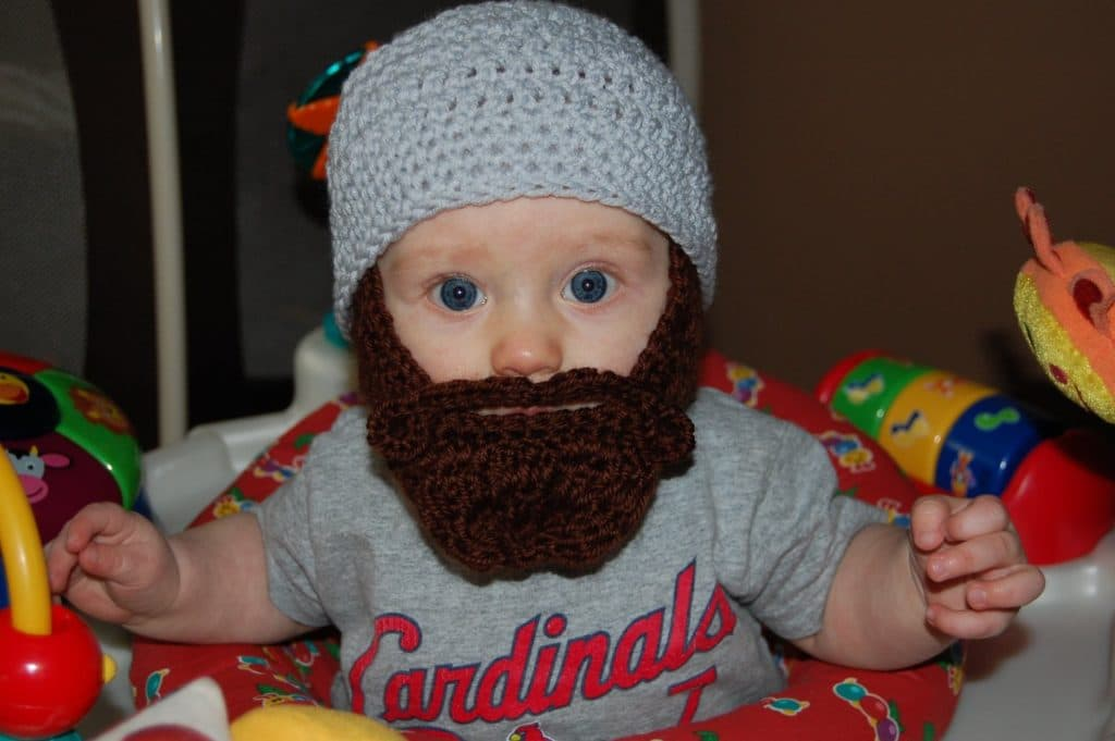knitted baby beard 1