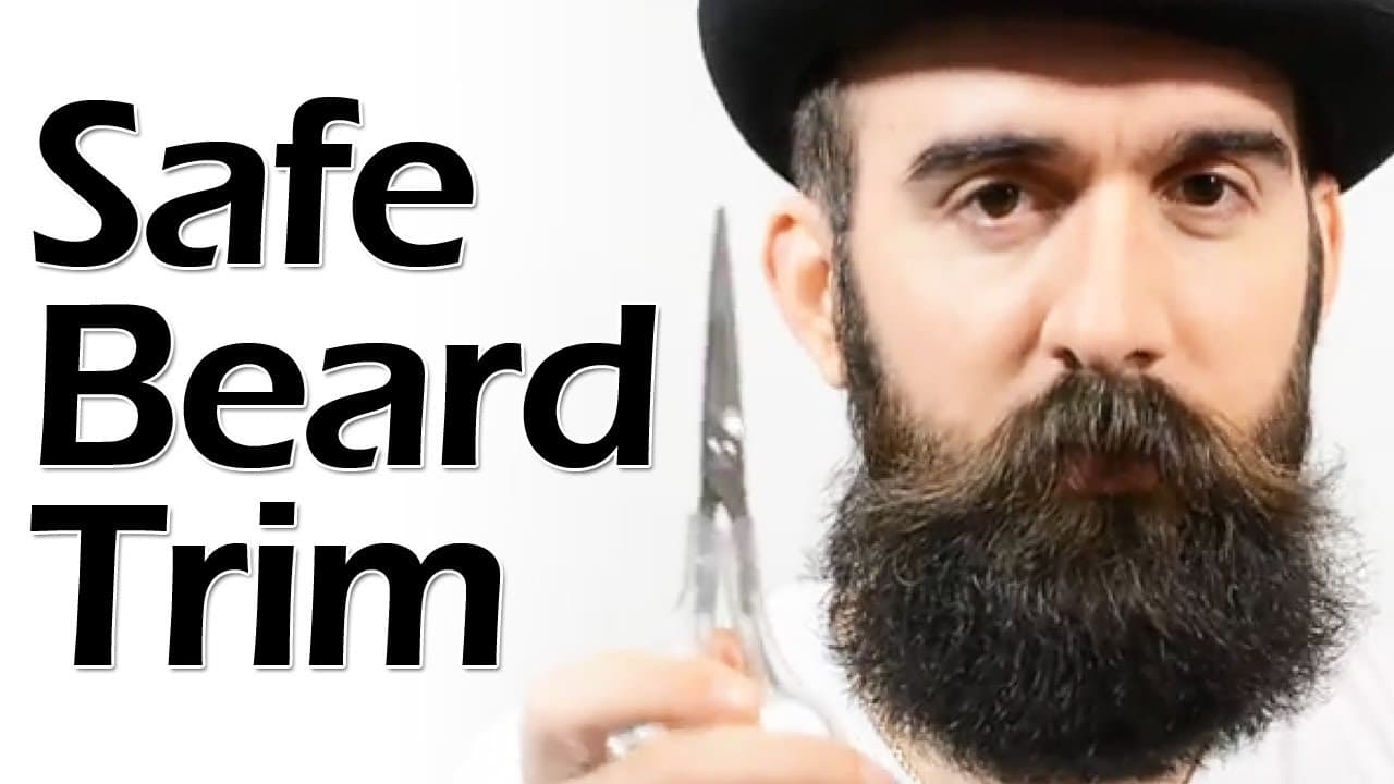 trimming mustache with long beard 1
