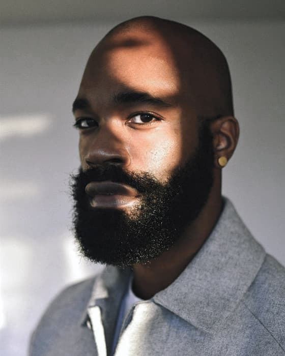 facial hair styles for bald black men 1