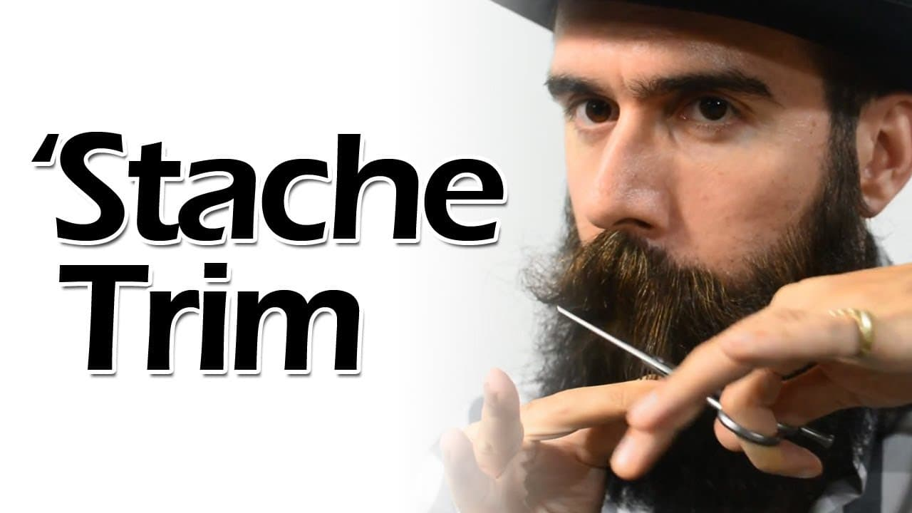 mustache and beard trimming 1