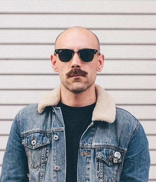 Shaved head facial hair styles for men